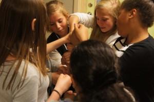 Barn på Segeltorpsskolan